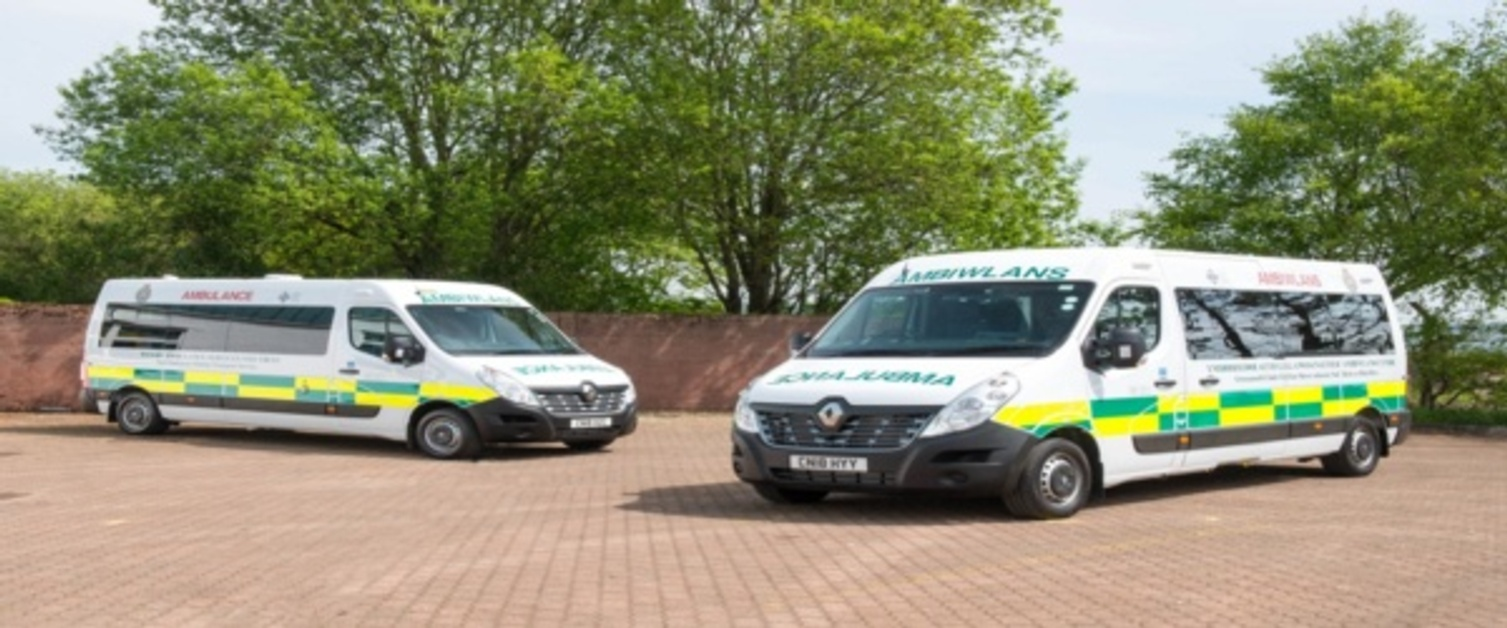 Welsh Ambulance Services NHS Trust NEPTS Vehicles